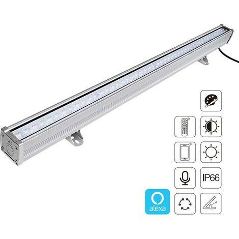 Proyector LED lineal 48W RGB+CCT, 220V, RF, Alexa, SINC. 1m, RGB + Blanco dual, regulable - RGB + Blanco dual