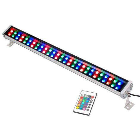 Proyector LED lineal doble, RGB-IR, 72W, 220V, 1m, RGB