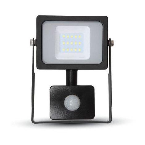 Proyector Led Negro PIR Sensor Series IP44 10W V-TAC VT-4911 B PIR 800LM