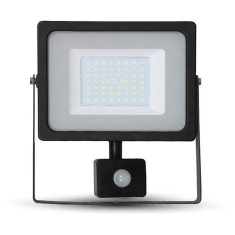 Proyector Led Negro PIR Sensor Series IP44 50W V-TAC VT-4955 B PIR 4250LM