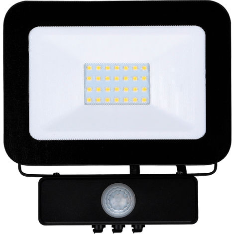 Proyector led negro sensor 20W 6000K IP65