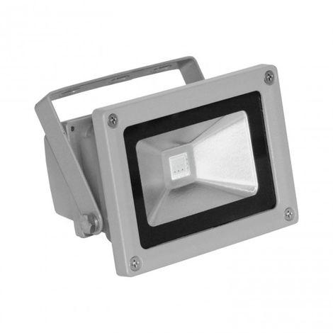 Proyector LED RGB 10W Aluminio Plata