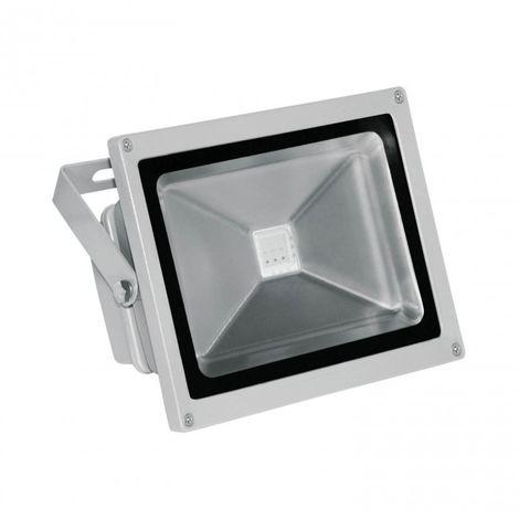 Proyector LED RGB 20W Aluminio plata