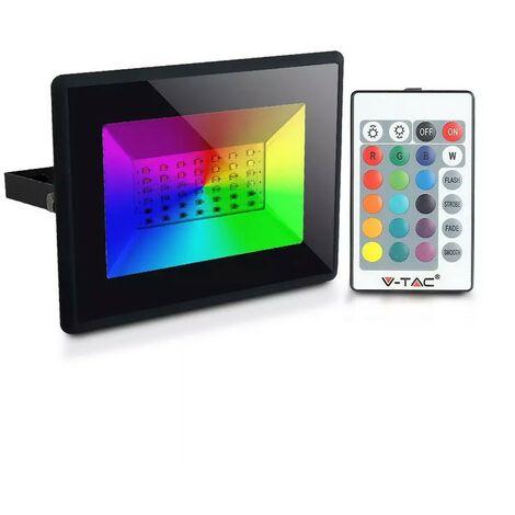 Proyector LED RGB de 30 W con control remoto