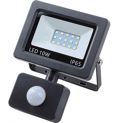 Proyector LED sensor plano 10 vatios + SMD