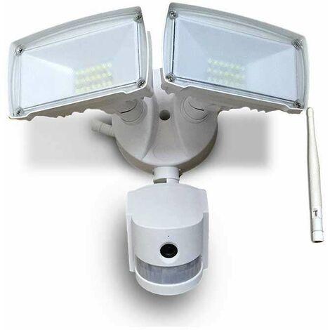 Proyector LED SMD con sensor de movimiento y cámara WIFI 18W Blanco Temperatura de color - 6000k Blanco frío