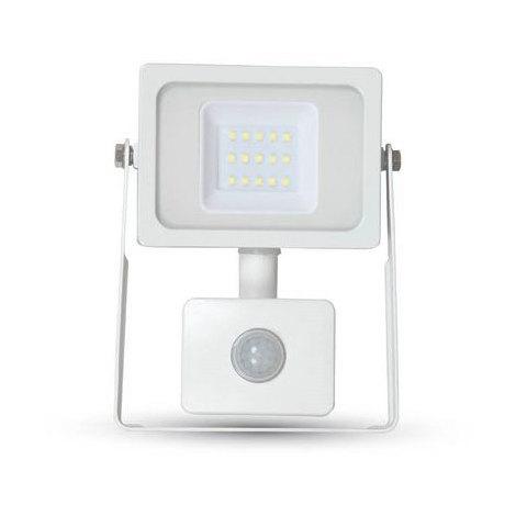 Proyector LED SMD Serie Slim con sensor de movimiento Blanco 10W 100°