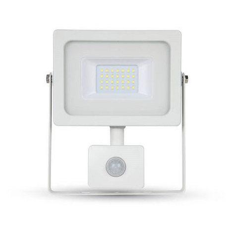 Proyector LED SMD Serie Slim con sensor de movimiento Blanco 20W 100°