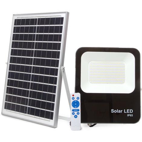 Proyector LED Solar 150W IP65 15000Lm Control Remoto   Blanco Frío (LM-PSL-150W-CW)