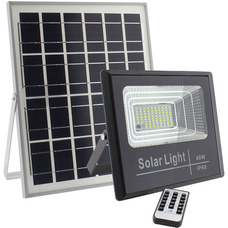 Proyector LED SOLAR DIGIT 40W, Blanco frío, regulable