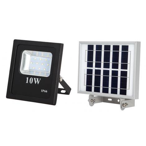 Proyector Solar 10w 800lm 6500k Oraculo Negro (12,5x11,5x4) (24x18x2,5)