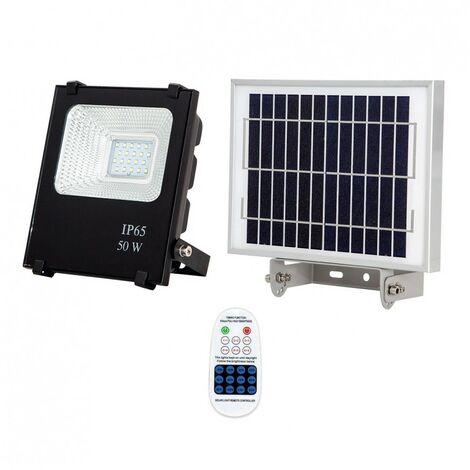 Proyector Solar 50w 6500k Oráculo negro con mando