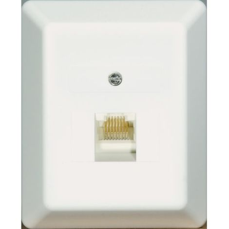 Prüwer AP-Modular-Anschlußdose 8-polig/8-polig beschaltet