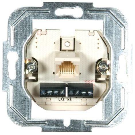 Prüwer UP-Modular-Anschlußdose 8-/8-polig Einzeldose