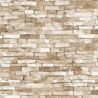P&S Textured Brick Effect Wallpaper Beige Shading Wallpaper