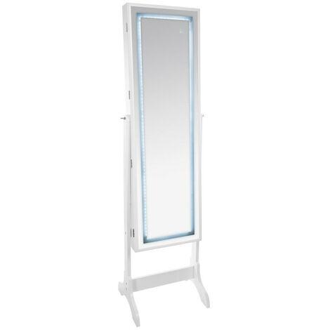 Psyché miroir/armoire bijoux LEDs Atmosphera - Blanc