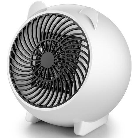 PTC Mini Ceramica Calentador electrico portatil Inicio temperatura muy rapido caliente Calefaccion Ventilador 50HZ escritorio de aire del ventilador del radiador del hogar para el invierno