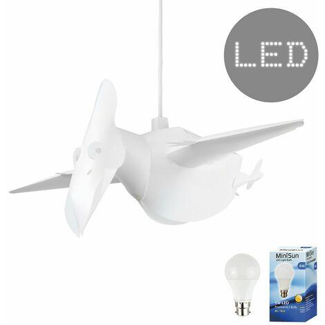 Pterodactyl Ceiling Light Shade + 6W LED GLS Bulb