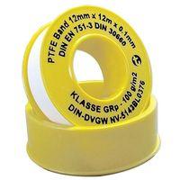 PTFE-Gewindedichtband (GRp) für Metallgewinde von 3/8'' bis 2'' - DIN-DVGW - Breite 12 mm - Rolle 12 m