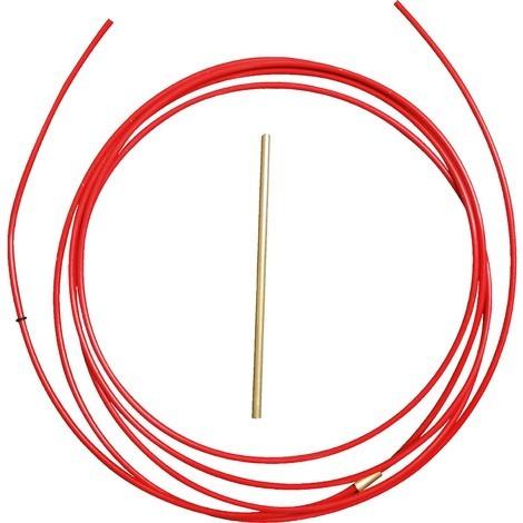 PTFE Seele rot für Drahtdurchmesser Ø 0,8 - 1,0 mm, Ideal für Aluminium-Schweißdraht