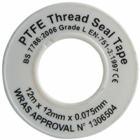 P,T,F,E Tape 12mm x 12m White (Pack 10) (FAITAPEPTF10)