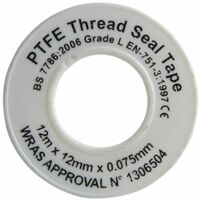 P.T.F.E Tape 12mm x 12m White (Pack 10) (FAITAPEPTF10)