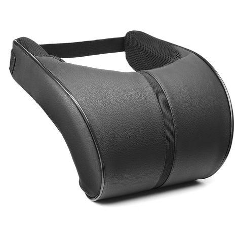 PU Leather Memory Pillow Car Seat Head Headrest Support Cushion B