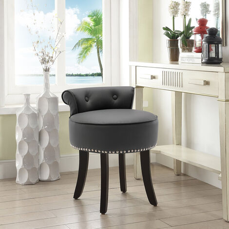 PU Leather Vanity Dressing Table Stool Makeup Piano Chair Living Dining Room Bedroom