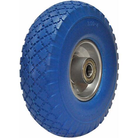 PU Rad 260x75mm Ersatz-Reifen PU-Schaum blau Schubkarre Sackkarre Reifen Rad 3.00-4 auf Stahlfelge