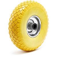 PU-Rad 3.00-4 260mm Vollgummireifen pannensicher mit Metallfelge zur Montage von Transporthilfen