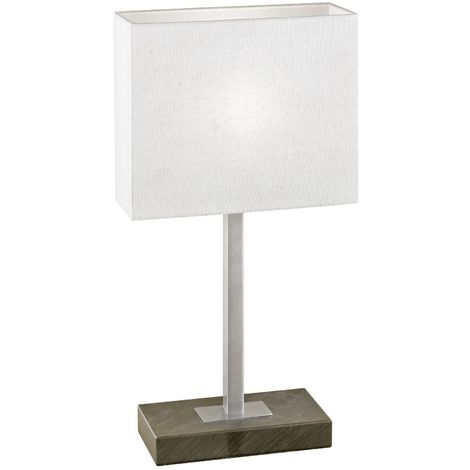 PUEBLO Table Lamp 1 Light with Touchdimmer Antique Brown Beige