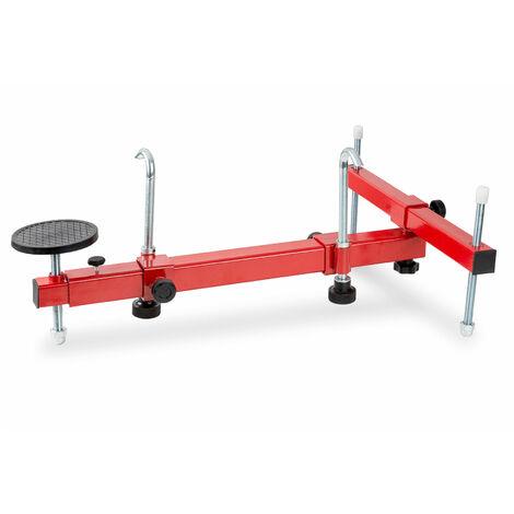 Puente universal para Motores (Capacidad de carga de 350 kg, Ajustable universalmente, Respaldo con almohadilla de goma) Elevador transmisión