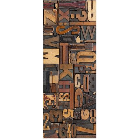 Puerta 3D Mural Puerta extraible Etiqueta auto-adhesivo de vinilo Pegatinas de pared desmontable de la puerta decoracion del arte para el hogar Decoraciones, tipo 5