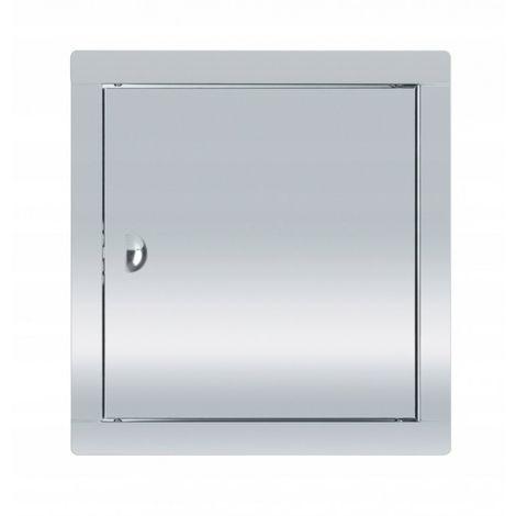 Puerta de acceso de acero inoxidable 25x25 con pes