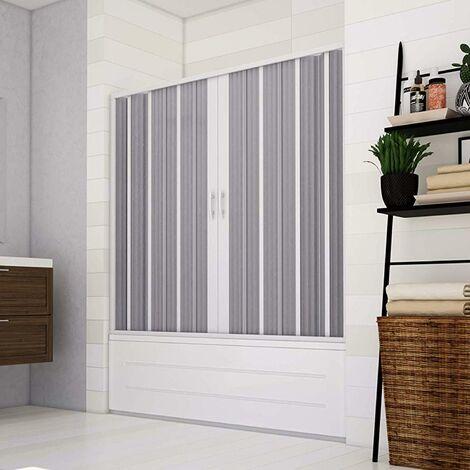 Puerta de Bañera 170 cm en PVC plegable con Apertura Central H 150 cm color Blanco mod. Flex