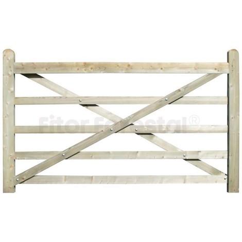 Puerta de campo para hípicas y fincas 210x135cm
