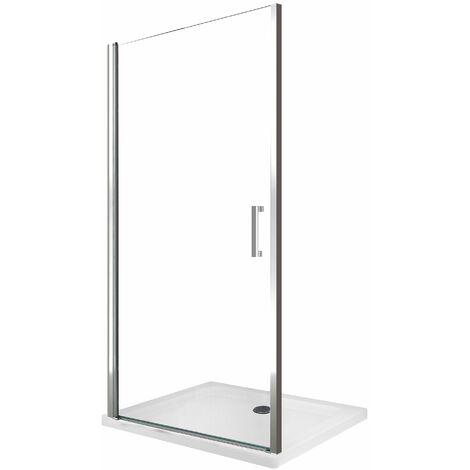 Puerta de ducha batiente de 8 mm para instalacion en un nicho reversible H.200