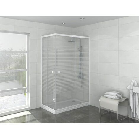Puerta de ducha de esquina con acceso Laia