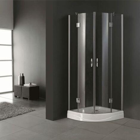 Puerta de ducha semicircular esquinal 80 x 80 cm
