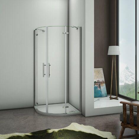 Puerta de ducha Semicircular Esquinal, Mampara de Ducha Apertura de puerta Abatible Curvo Antical