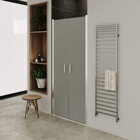 Puerta de ducha vidrio satinado de 6mm - altura: 180 cm NF