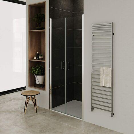 Puerta de ducha vidrio transparente de 6mm - altura: 185 cm NC