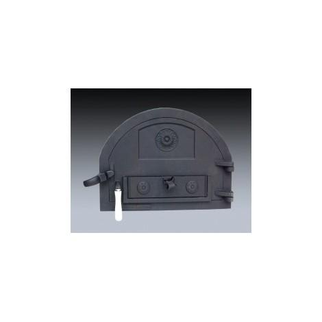 Puerta de fundición para horno de leña de menor tamaño (peso: 16 Kg)