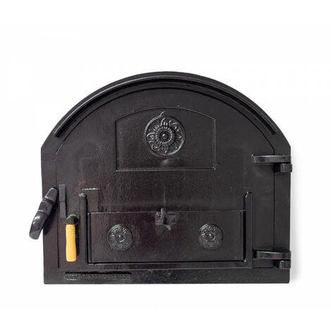 Puerta de fundición para horno de leña sin cristal (peso: 22 Kg)