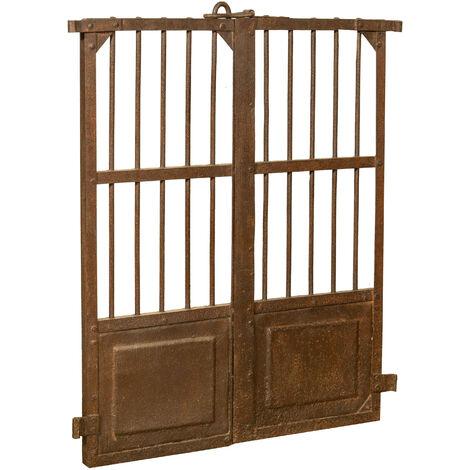 Puerta de hierro, L81xPR5xH97 cm, una pieza.