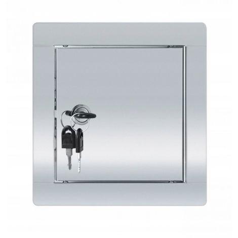 Puerta de inspección de acero inoxidable con llave