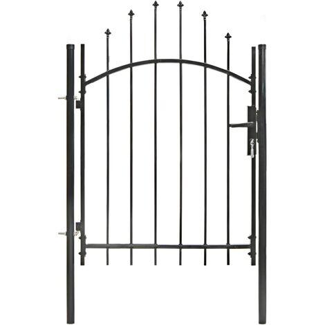 Puerta de jardin con arco superior 1x1,5 m acero negro