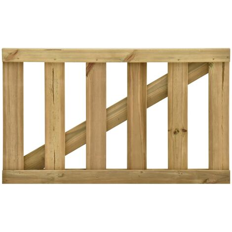 Puerta de jardín de listones madera de pino impregnada 100x60cm