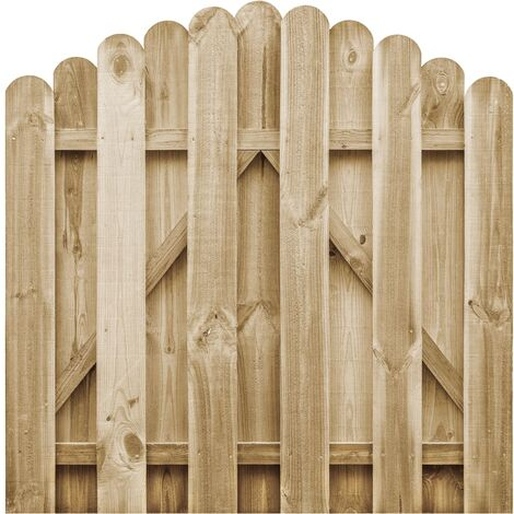 Puerta de jardín de madera de pino impregnada 100x100 cm