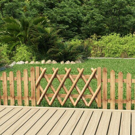 Puerta de jardín de madera de pino impregnada 100x60 cm